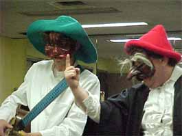 Commedia characters Improvising