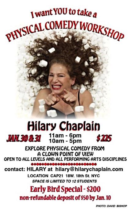 Hilary Chaplain- NY Classes Jan 30/31