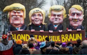 German Carneval float: Blonde Is the New Brown
