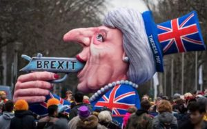 German Carneval Float: Brexit Roulette