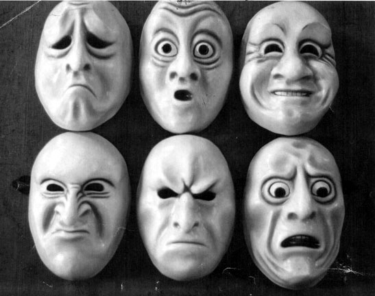 6 Emotion Masks Created by Melody Anderson