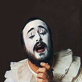 pavarotti clown